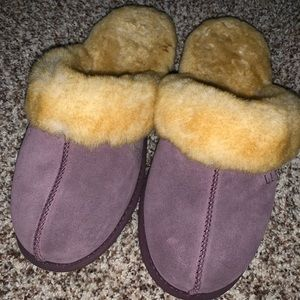 LLbean purple slippers
